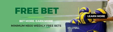 Free bet bonus banner at Lions Bet